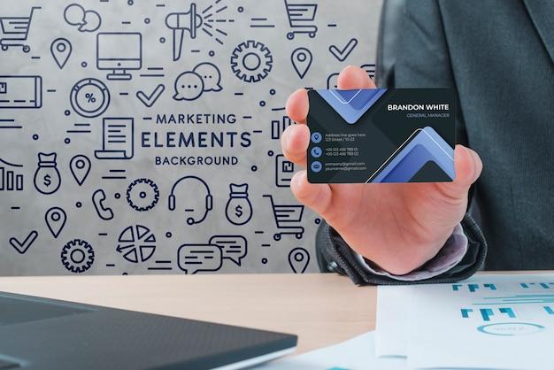 ビジネスコーポレートアイデンティティカード