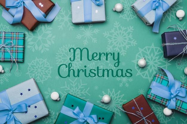Красочный рождественский концепт макет