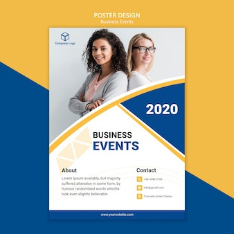 Флаер-плакат для концепции бизнес-шаблона