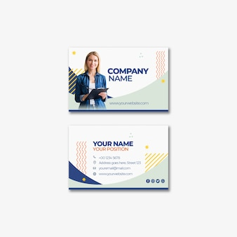 企業のビジネスカードのテンプレートデザイン
