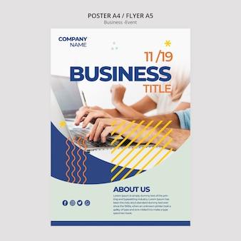 企業のポスターのテンプレートデザイン