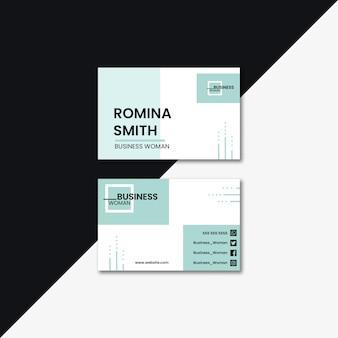 Концепция бизнес-леди для визитной карточки