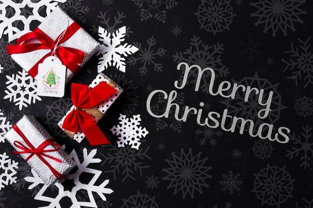 クリスマスとプレゼントのメッセージ