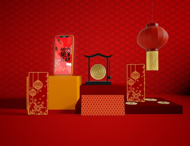 Китайский традиционный дизайн на новый год