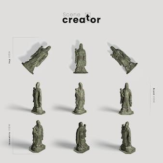 Коллекция китайских традиционных статуй