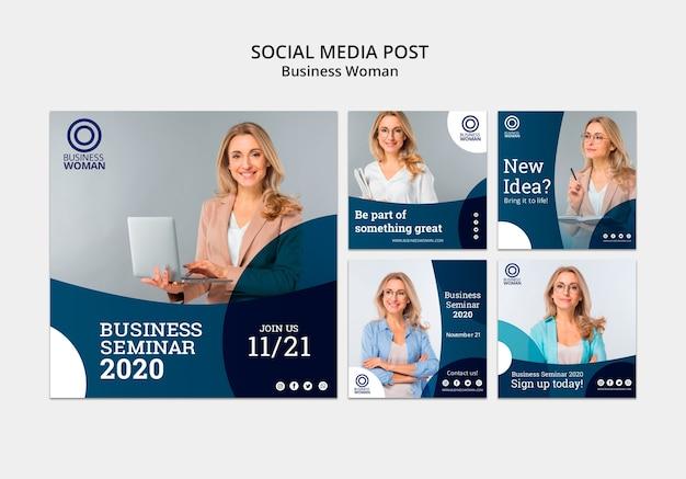 ソーシャルメディアの投稿のビジネステンプレート