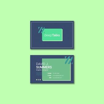 Концепция шаблона для визитной карточки
