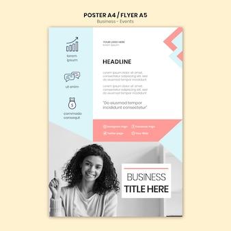 ビジネスの女性と企業ポスター