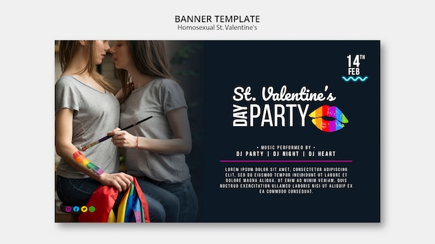 Красочный баннер для ул. валентинка лгбт с фото