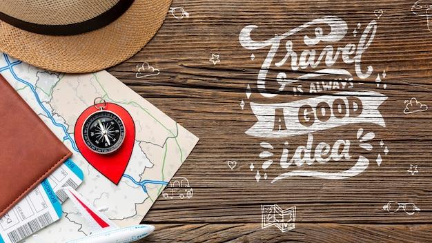 Мотивационная цитата для путешествий