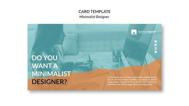 Минималистичный дизайн концепции визитной карточки