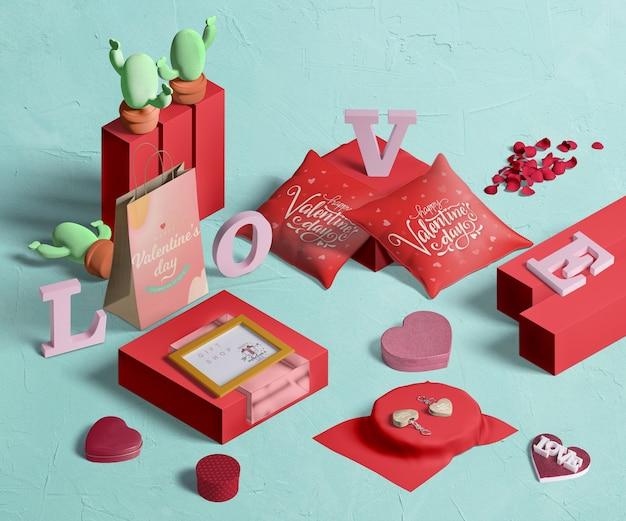 День святого валентина концептуальный макет