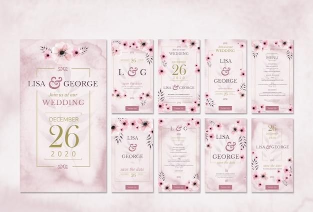 ロマンチックな最小限の結婚式の招待状