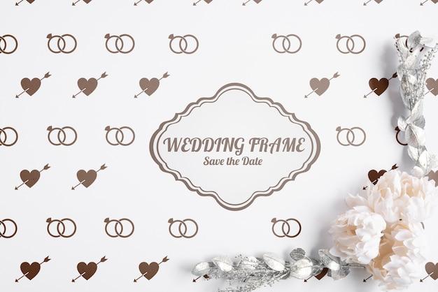フラットレイアウトのエレガントな結婚式の招待状