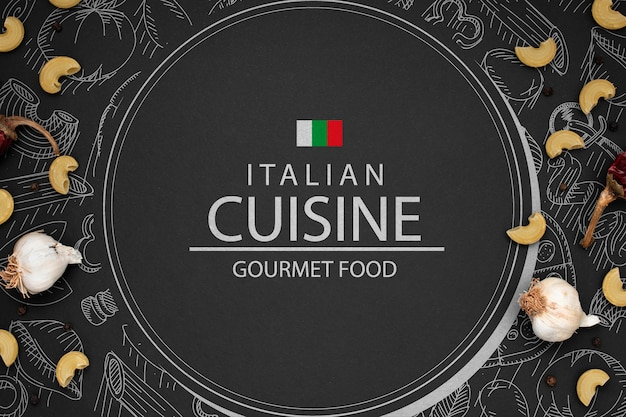 イタリアのレストランのモックアップロゴ