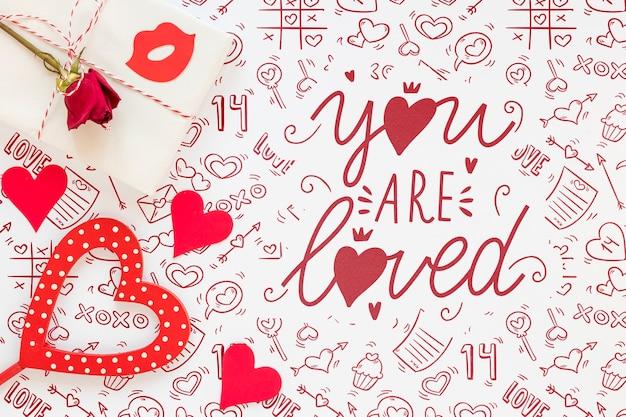 Красивая концепция день святого валентина