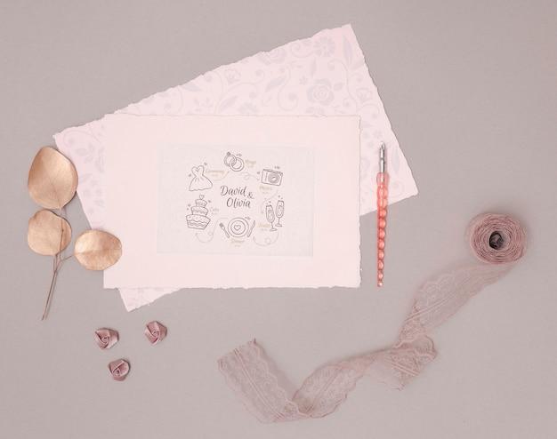 ロマンチックな結婚式の招待状