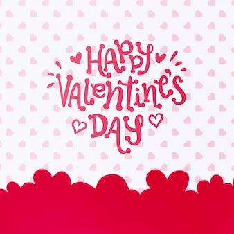 赤い幸せなバレンタインデーレタリング