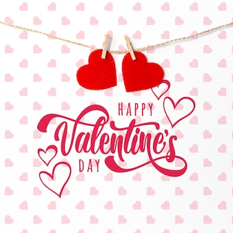 かわいい幸せなバレンタインデーレタリング