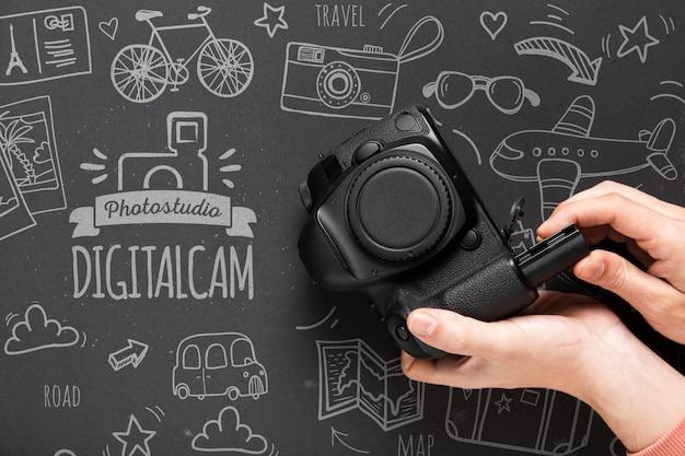 Профессиональная камера на столе