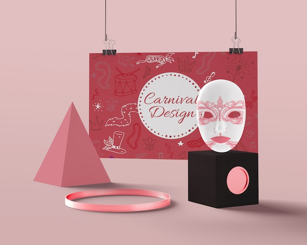 Макет декоративных украшений для карнавала