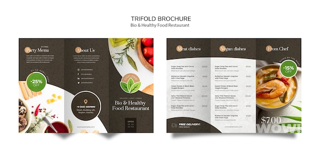 健康食品レストランパンフレット