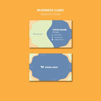 Ресторан шаблон визитной карточки