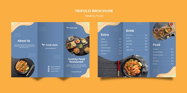 Ресторан шаблон брошюры концепция