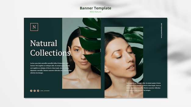 Дикая природа концепция баннер шаблон макет