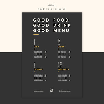 Выбор меню ресторана и предложения