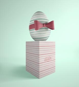 Пасхальное яйцо с полосками тема