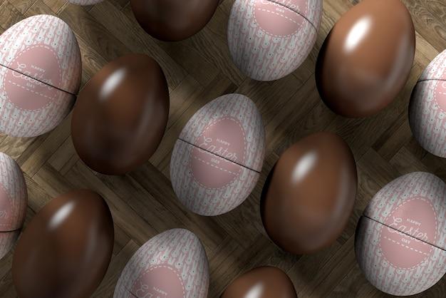 イースターのお祝いのためのクローズアップの卵