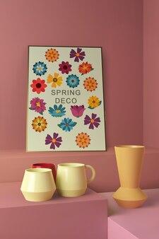 春の装飾コンセプトモックアップ