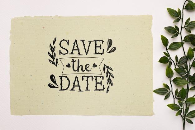 Плоская планировка за исключением макета с надписью даты