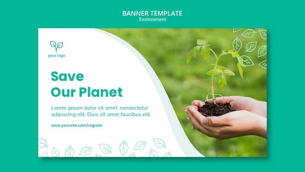 Шаблон баннера с концепцией окружающей среды