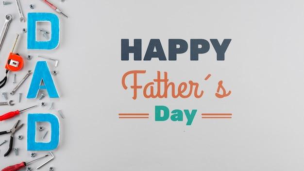 父の日の概念の平面図