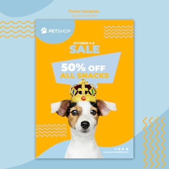 Шаблон флаера с продажей еды для собак