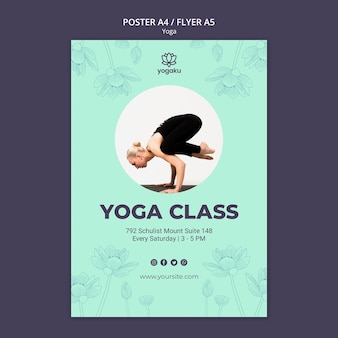 Шаблон постера с концепцией йоги