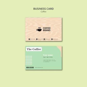 Шаблон визитной карточки кофе