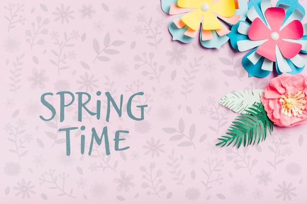 春の時間の背景概念