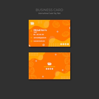 Визитная карточка для суши ресторана
