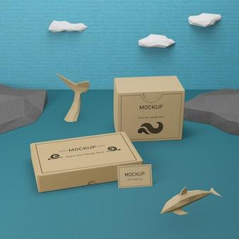 День океана морская жизнь с концепцией макета