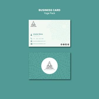 Концепция визитной карточки йоги
