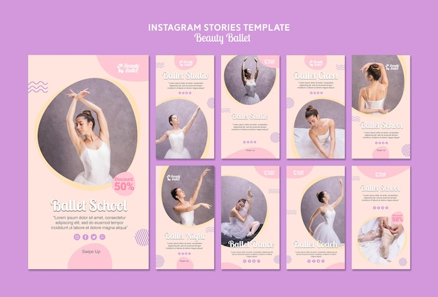 Шаблон балета в социальных сетях