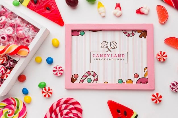 Рамка с коллекцией конфет