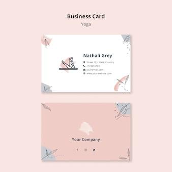 Шаблон визитной карточки йоги
