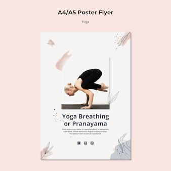 Шаблон плаката образа жизни йоги