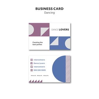 Шаблон визитной карточки геометрические танцы