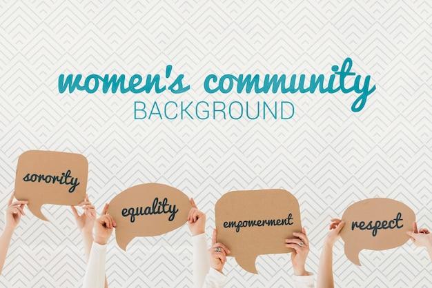 女性のコミュニティ背景コンセプト