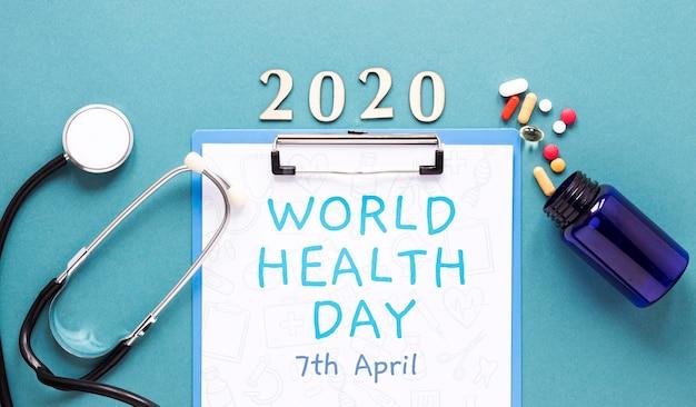 世界保健デーのコンセプト